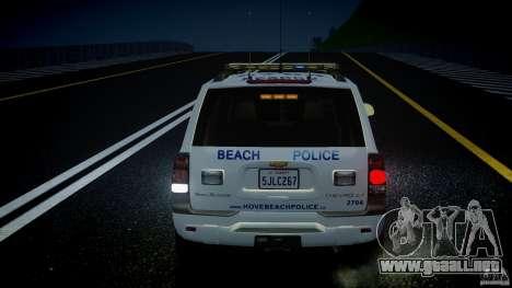 Chevrolet Trailblazer Police V1.5PD [ELS] para GTA 4 ruedas