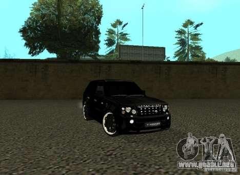 Land Rover Range Rover Sport Hamann para GTA San Andreas left
