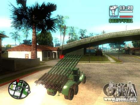 Instalación de misiles ZiS-6 BM13 para GTA San Andreas left