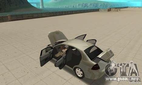 Chevrolet Aveo para visión interna GTA San Andreas