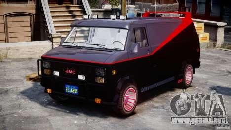 GMC Van G-15 1983 The A-Team para GTA 4