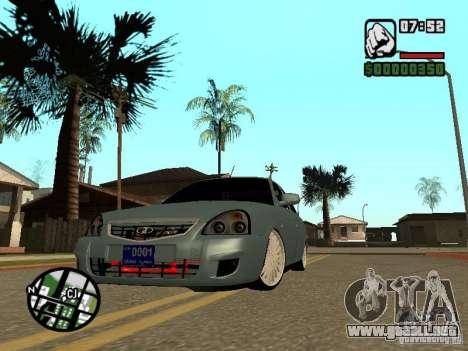 VAZ-2170 para GTA San Andreas vista hacia atrás