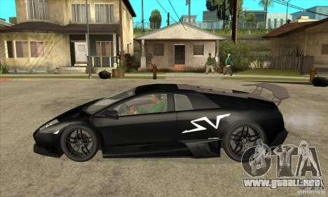 Lamborghini Murcielago LP 670 SV para GTA San Andreas left