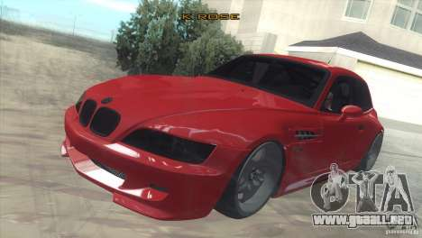 BMW Z3 M Power 2002 para visión interna GTA San Andreas