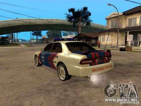 Mitsubishi Galant Police Indanesia para GTA San Andreas left