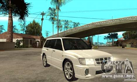Subaru Forester para GTA San Andreas vista hacia atrás