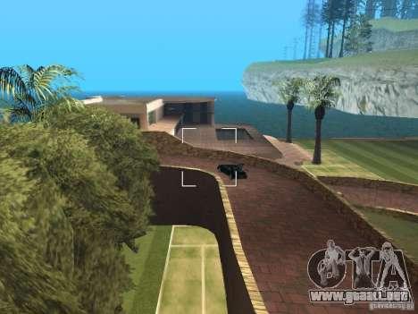 Mansión de la isla para GTA San Andreas tercera pantalla