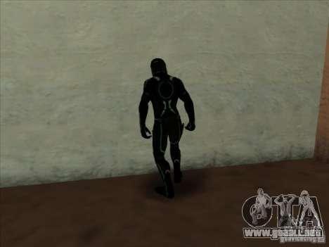 Un personaje del juego Tron: Evolution para GTA San Andreas segunda pantalla