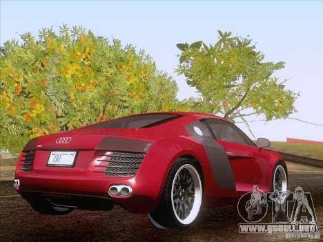 Audi R8 Hamann para visión interna GTA San Andreas