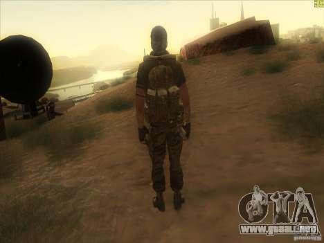 Frank Woods para GTA San Andreas quinta pantalla