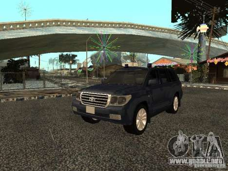Toyota Land Cruiser 200 para GTA San Andreas left