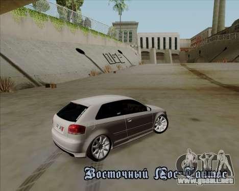 Audi S3 V.I.P para vista lateral GTA San Andreas