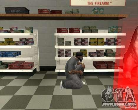 New Ammunation para GTA San Andreas tercera pantalla
