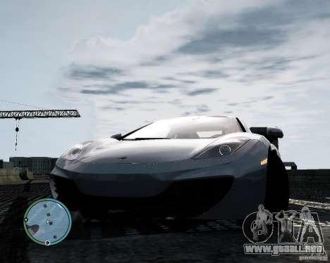 McLaren MP4-12C [EPM] 2011 para GTA 4 vista hacia atrás