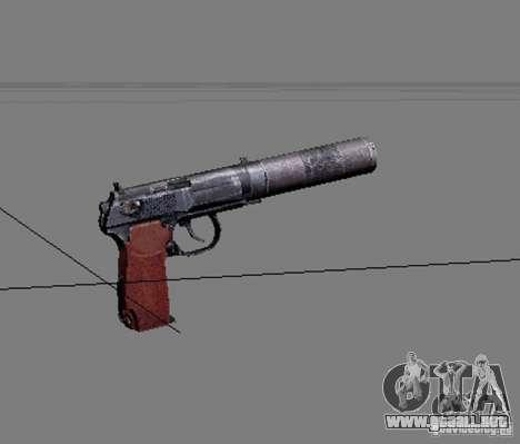 Un conjunto de armas de acosador V2 para GTA San Andreas séptima pantalla