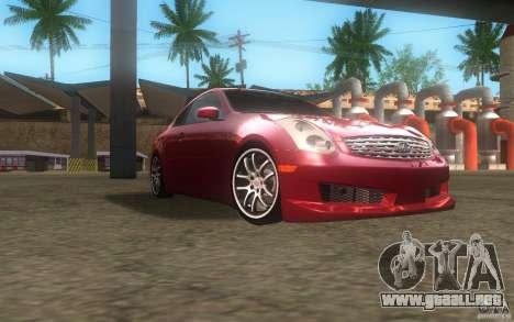 Infiniti G35 - Stock para GTA San Andreas vista hacia atrás
