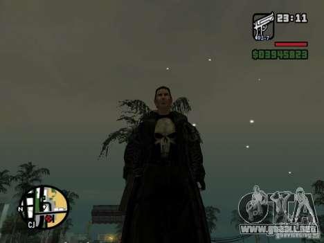 El castigador para GTA San Andreas segunda pantalla
