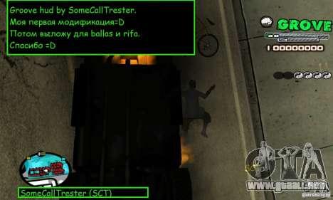 Grove Hud By SCT para GTA San Andreas segunda pantalla