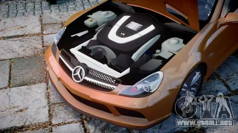 Mercedes-Benz SL65 AMG Black Series para GTA 4 vista interior