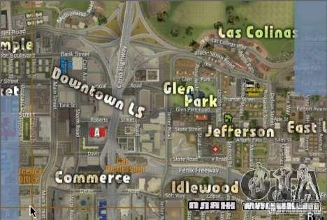 El nuevo mapa y radar para GTA San Andreas