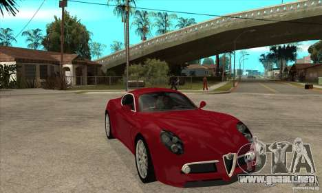 Alfa Romeo 8 c Competizione stock para visión interna GTA San Andreas