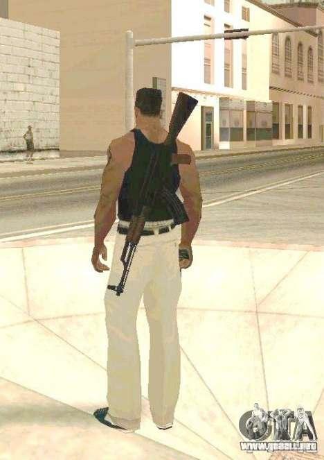 Armas en el cuerpo para GTA San Andreas