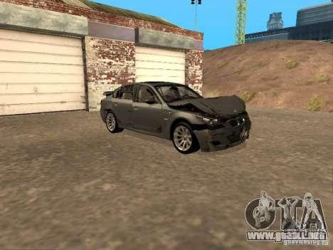 BMW M5 E60 2009 v2 para las ruedas de GTA San Andreas