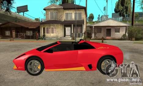Lamborghini Murcielago LP650 para GTA San Andreas left