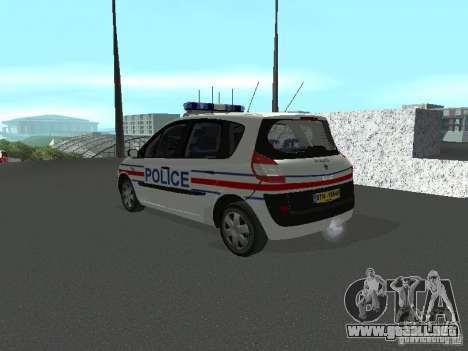Renault Scenic II Police para GTA San Andreas left
