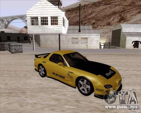 Mazda RX7 2002 FD3S SPIRIT-R (Type RS) para visión interna GTA San Andreas
