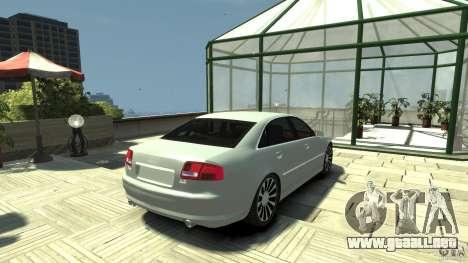 Audi A8 4.2 QUATTRO beta para GTA 4 Vista posterior izquierda