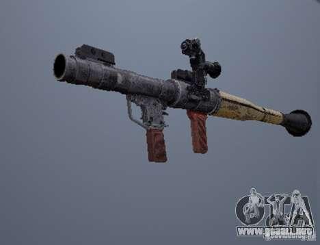 Un conjunto de armas de un acosador para GTA San Andreas sucesivamente de pantalla