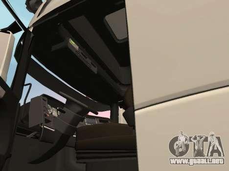 Scania R700 Euro 6 para visión interna GTA San Andreas