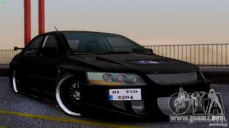 Mitsubishi Lancer Evolution 8 Drift para GTA San Andreas