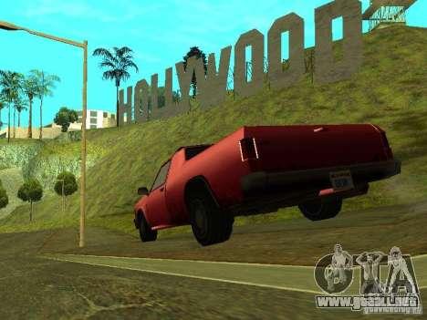 Picador para GTA San Andreas vista posterior izquierda