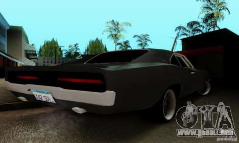 Dodge Charger RT para vista lateral GTA San Andreas