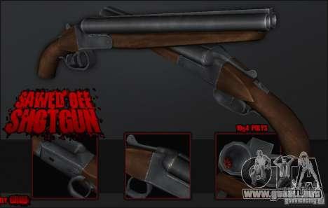 Sawedoff Shotgun para GTA San Andreas segunda pantalla