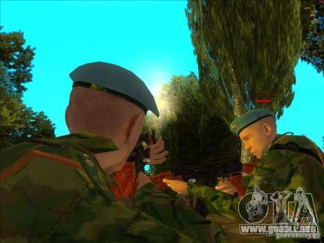 Las tropas AEROTRANSPORTADAS. para GTA San Andreas segunda pantalla