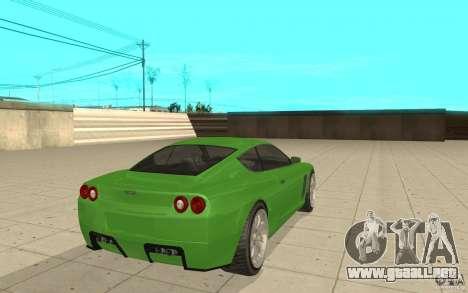Super GT de GTA 4 para GTA San Andreas vista posterior izquierda