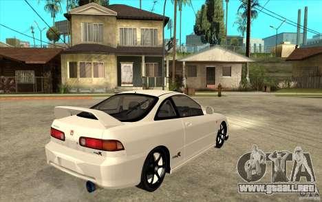 Honda Integra Spoon Version para la visión correcta GTA San Andreas