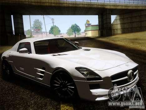 Mercedes-Benz SLS AMG para GTA San Andreas vista hacia atrás