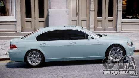 BMW 7 Series E66 para GTA 4 Vista posterior izquierda