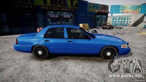 Ford Crown Victoria Detective v4.7 [ELS] para GTA 4 vista hacia atrás