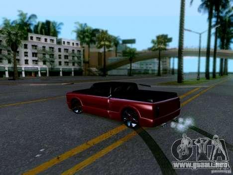 Slamvan Tuned para GTA San Andreas vista posterior izquierda