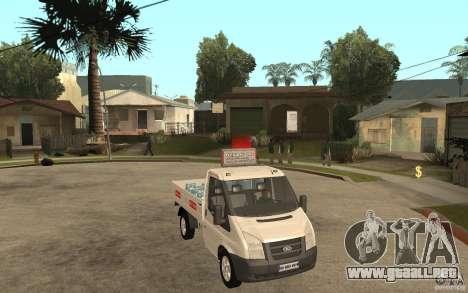 Ford Transit Pickup 2008 para GTA San Andreas vista hacia atrás