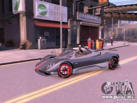 Pagani Zonda Cinque Roadster v 2.0 para GTA 4 visión correcta