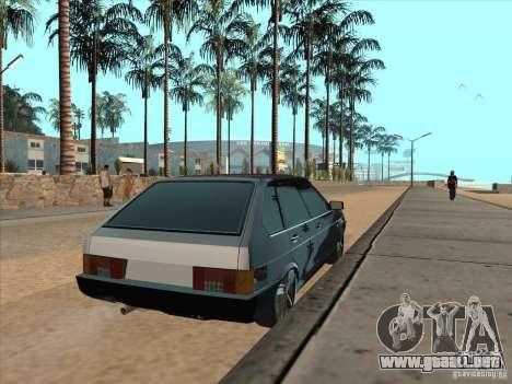 Ajuste ligero VAZ 21093i para GTA San Andreas vista posterior izquierda