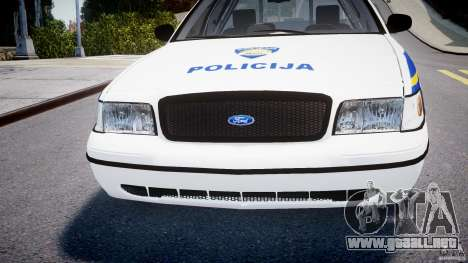 Ford Crown Victoria Croatian Police Unit para GTA 4 vista superior