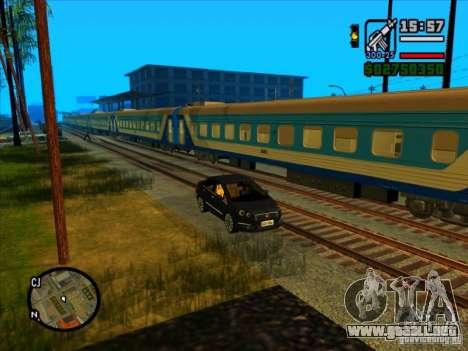 Largo tren para GTA San Andreas quinta pantalla
