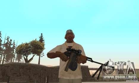La portátil ametralladora Kalashnikov para GTA San Andreas